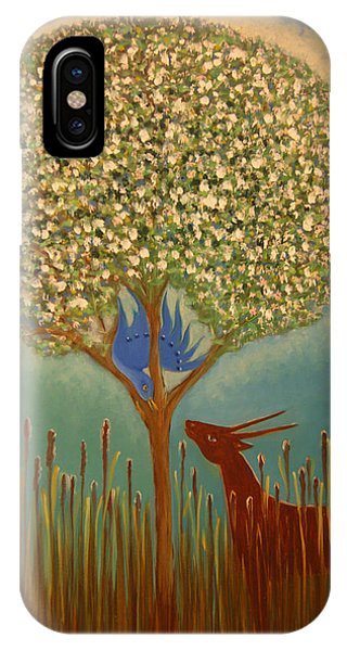Blue Bird Singing IPhone Case