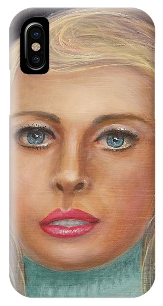 Blue Blonde IPhone Case