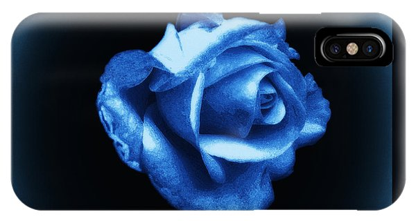 Blue Blue Rose IPhone Case