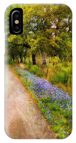 Blue Bonnet Path IPhone Case