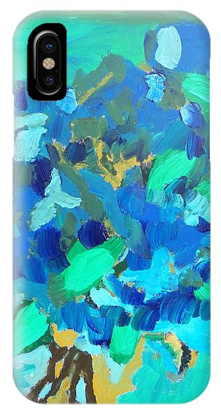Blue Bouquet IPhone Case
