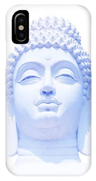 Buddhism iPhone Case - Blue Buddha by Tim Gainey