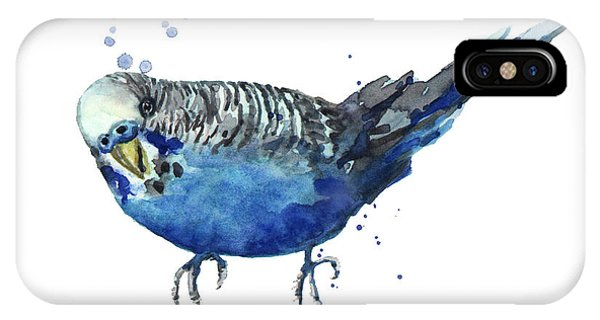 Parakeet iPhone Case - Blue Budgerigar by Alison Fennell