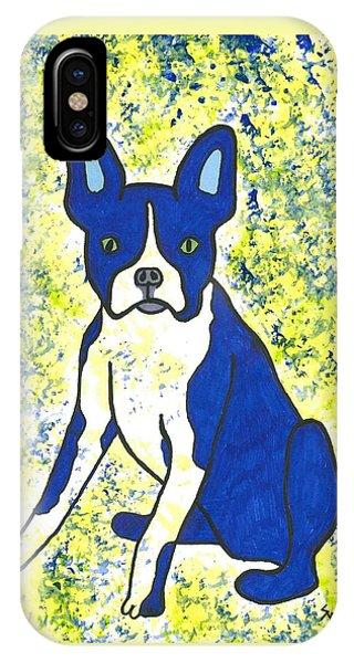 Blue Bulldog IPhone Case
