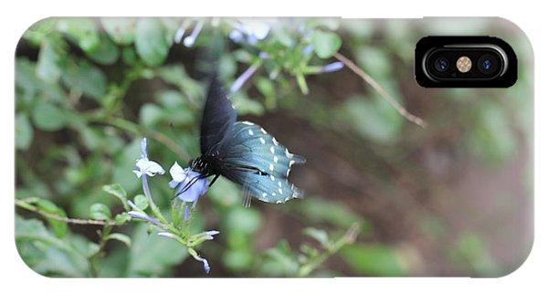 Blue Butterfly On Purple Flower IPhone Case