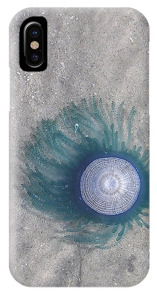 Blue Button Jellyfish IPhone Case