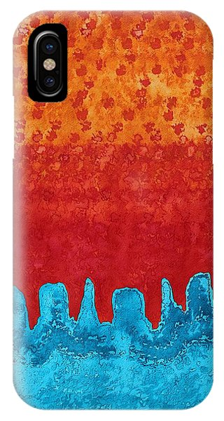 Blue Canyon Original Painting IPhone Case