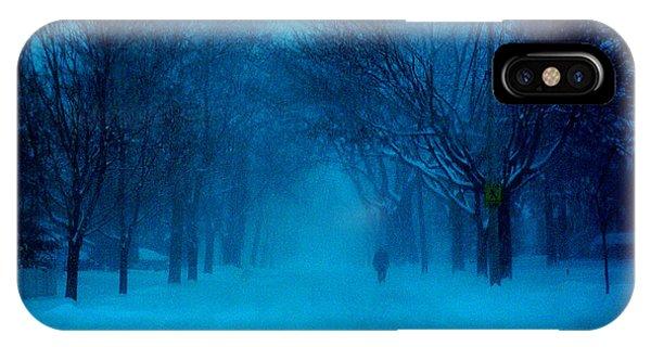 Blue Chicago Blizzard  IPhone Case