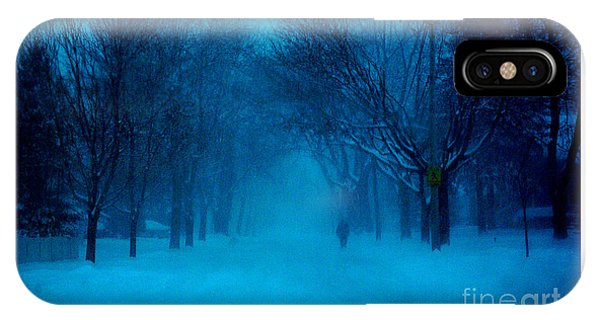 Blue Chicago Blizzard  IPhone Case