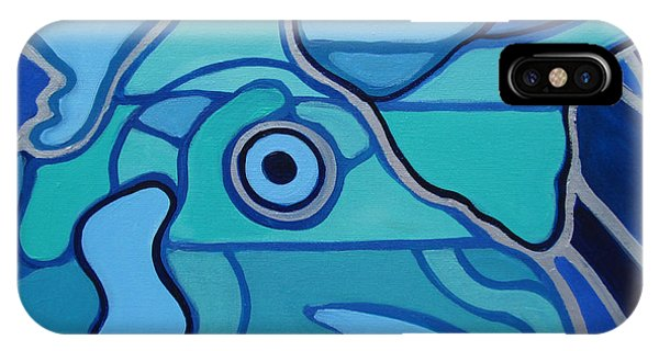 Blue Chicken Abstract IPhone Case