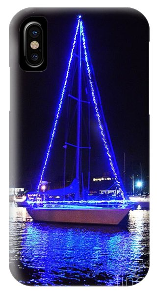 IPhone Case featuring the photograph Blue Christmas  by Laurie Lundquist