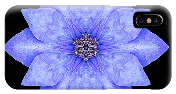 Blue Clematis Flower Mandala IPhone Case
