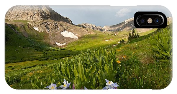 Handie's Peak And Blue Columbine On A Summer Morning IPhone Case