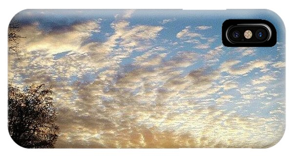 Sunset iPhone Case - Blue Contrail by CML Brown