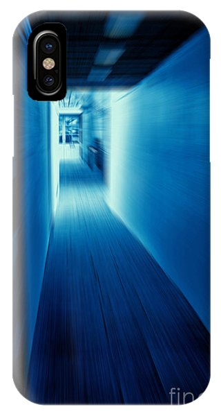 Blue Corridor IPhone Case