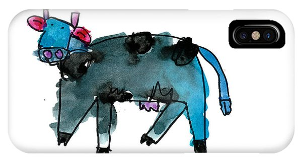 Blue Cow IPhone Case