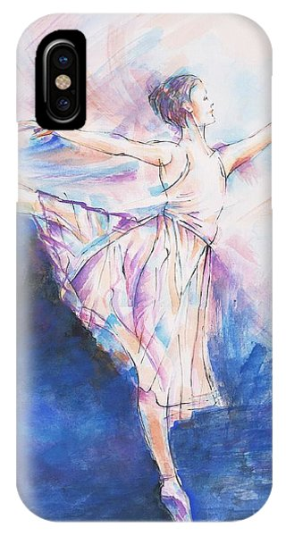 Fairness iPhone Case - Blue Dance by Jovica Kostic