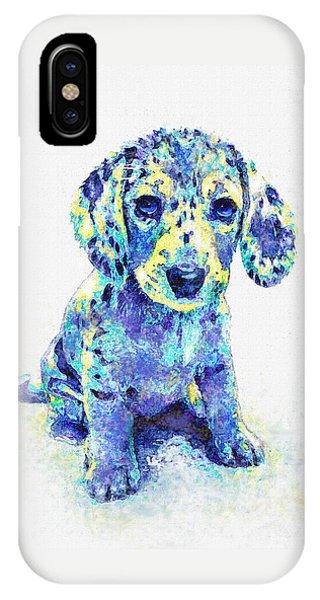 Blue Dapple Dachshund Puppy IPhone Case