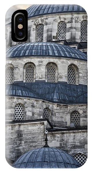 Exterior iPhone Case - Blue Dawn Blue Mosque by Joan Carroll