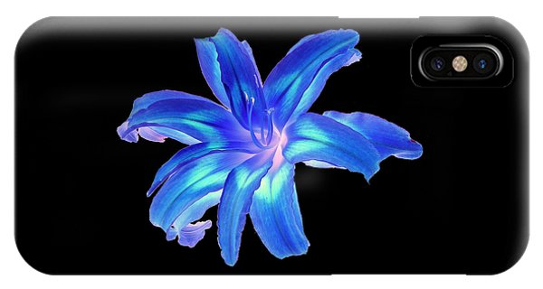 Blue Day Lily #2 IPhone Case