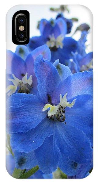 Blue Delphinium Rising IPhone Case