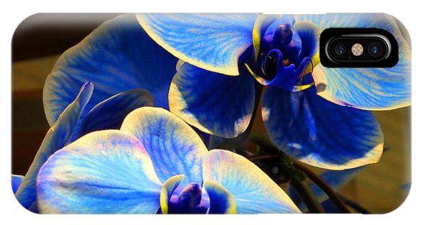 Blue Diamond Orchids Phone Case by Patricia Januszkiewicz