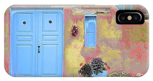 Blue Door In Ranchos IPhone Case