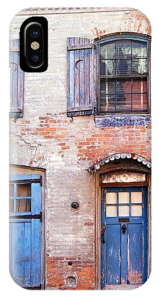 Blue Door Red Wall IPhone Case