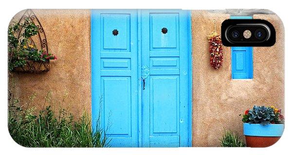 Blue Doors Of Taos IPhone Case