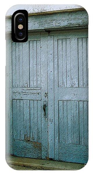 Blue Doors On Brewer Street IPhone Case
