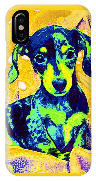 Blue Doxie IPhone Case