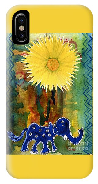 Blue Elephant In The Rainforest IPhone Case
