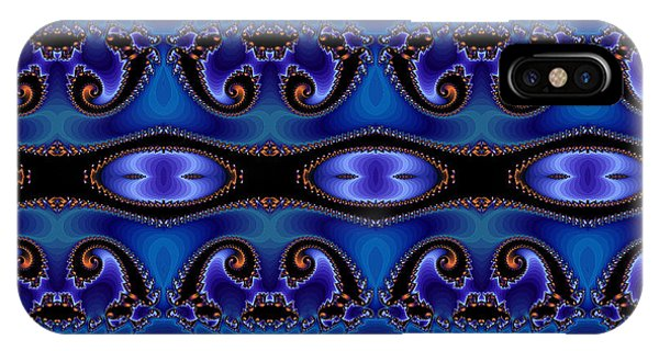 Blue Energy Abstract Phone Case by Sabre Tooth