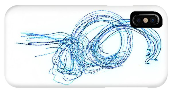 Blue Escargot Abstract Phone Case by George Zhouf