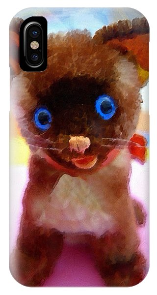 Blue Eyed Kitty IPhone Case