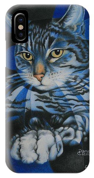 Blue Feline Geometry IPhone Case