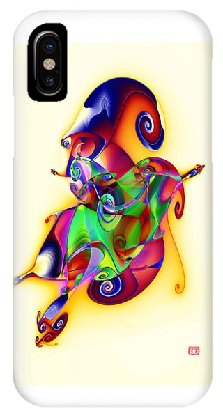 Blue Flame In A Maze IPhone Case