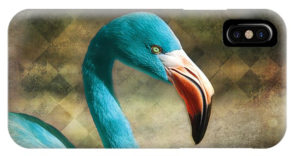 Blue Flamingo IPhone Case