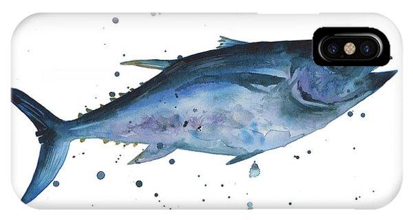Fish iPhone Case - Blue Flash Tuna by Alison Fennell