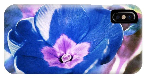 Blue Flower Phone Case by Angela Bruno