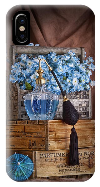 Scent iPhone Case - Blue Flower Still Life by Tom Mc Nemar