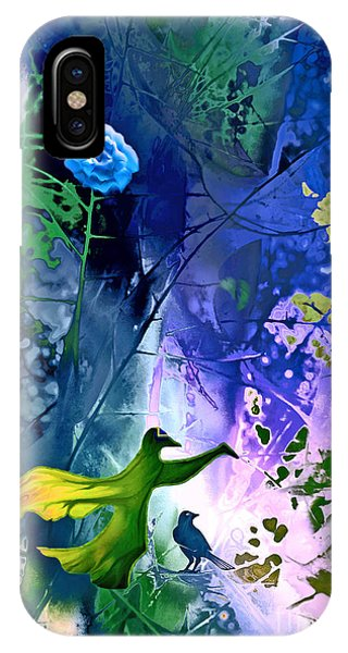 Blue Flower With Guardian IPhone Case