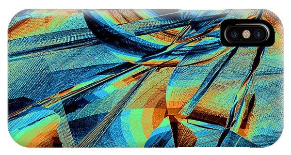 IPhone Case featuring the digital art Blue Flowpaper Solarized by Joy McKenzie