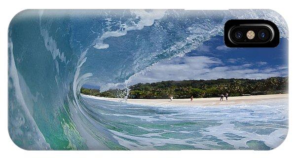 Water iPhone Case - Blue Foam by Sean Davey