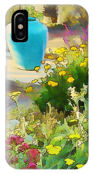 Blue Garden Pot IPhone Case