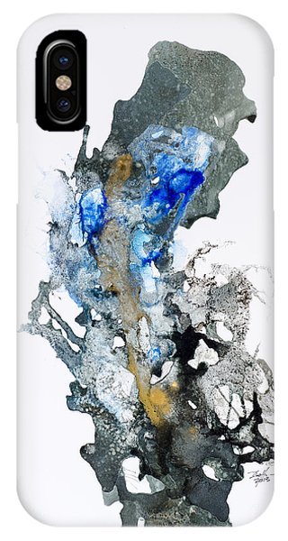 Blue-gold 04 Phone Case by David W Coffin