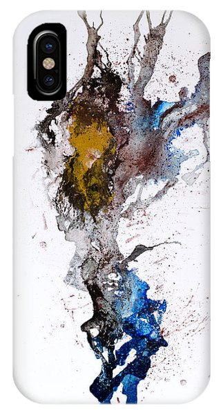 Blue-gold 06 Phone Case by David W Coffin