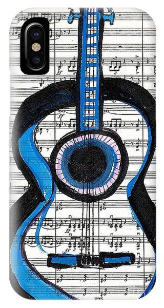 Blue Guitar Music IPhone Case