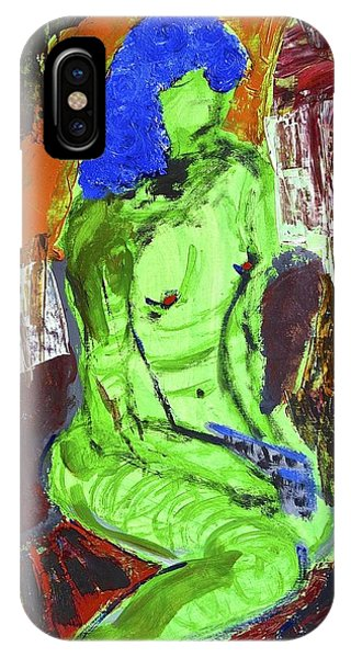 Blue Haired Nude IPhone Case