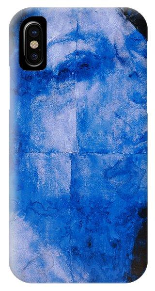 Dark Violet iPhone Case - Blue Head by Graham Dean